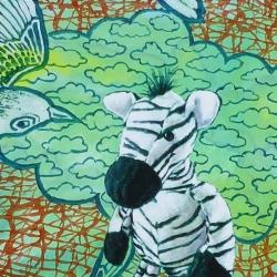 Marcel Kerkhoff - Zebra with Birds