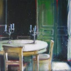 Hanna Ruminski - Interior With Green Door