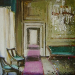 Hanna Ruminski - Interior with Emerald Sofa