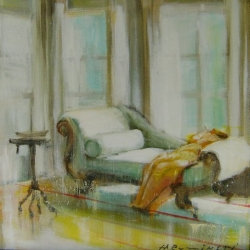 Hanna Ruminski - Green Chaise Lounge