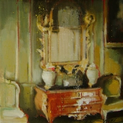 Hanna Ruminski - Room with Chest and Ornate Mirror