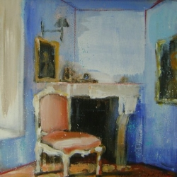 Hanna Ruminski - Room with Chair and Fireplace