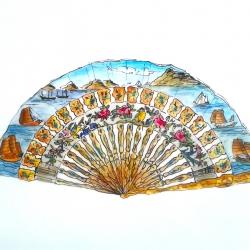 Jennifer Wardle - Seascape Fan