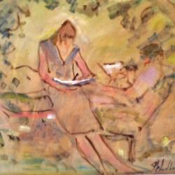 Susan McLean Woodburn - Drawing in the Garden