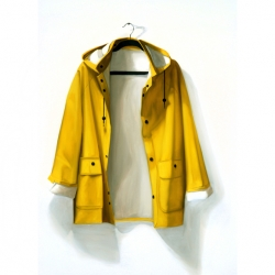 Dorion Scott - Untitled (Yellow Rain Jacket)