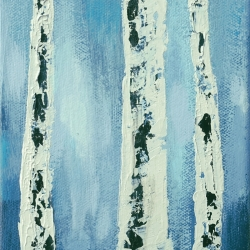 Rita Vindedzis - Evening Birches