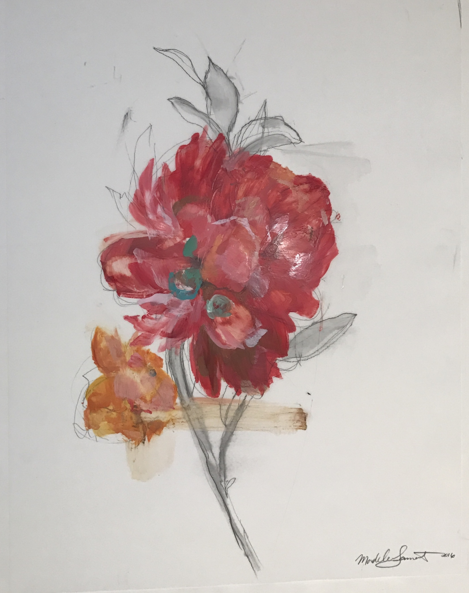 Coral Floral 2016  by Madeleine Lamont