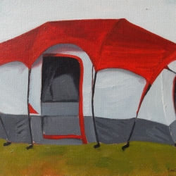 Emily Bickell - Coleman Tent (red)