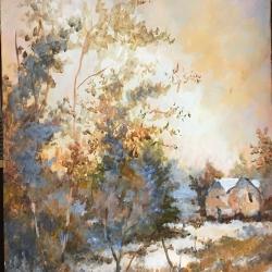 Masood Omer - Snow on a Farmhouse