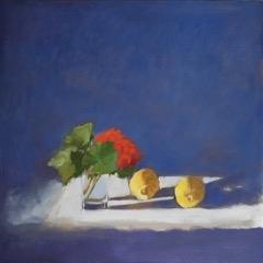 Hilda Oomen - Red Geranium with Lemons