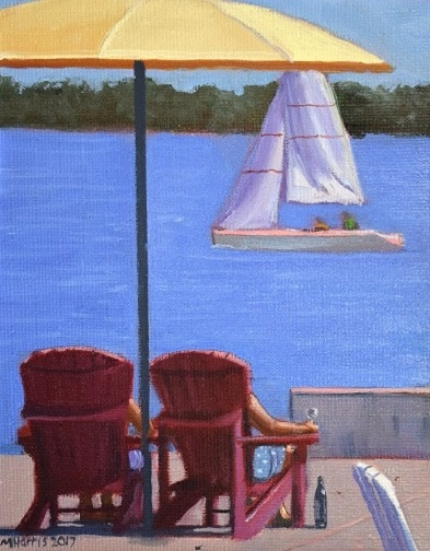 Chilling, Toronto Harbourfront  by Michael Harris