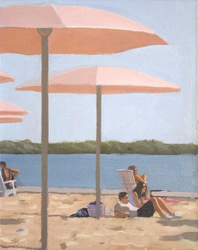 Taking it Easy Sugar Beach  by Michael Harris