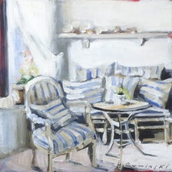 Hanna Ruminski - Interiors with Striped Pillows