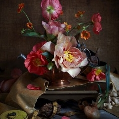 Kristin  Sjaarda - Coral Peony and Poppies