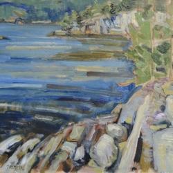 Todd Tremeer - Dusk on Pine Island, Killarney Bay