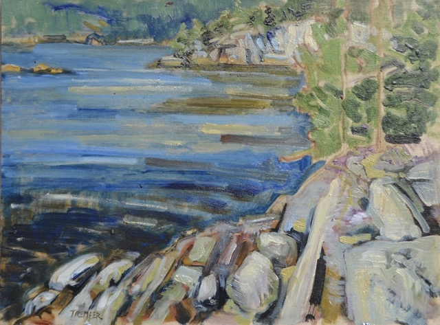 Dusk on Pine Island, Killarney Bay  by Todd Tremeer