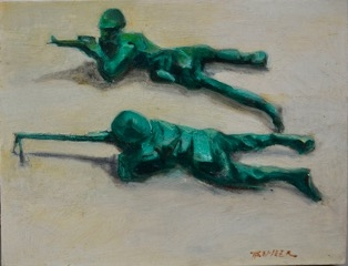 2 Figures Firing  by Todd Tremeer