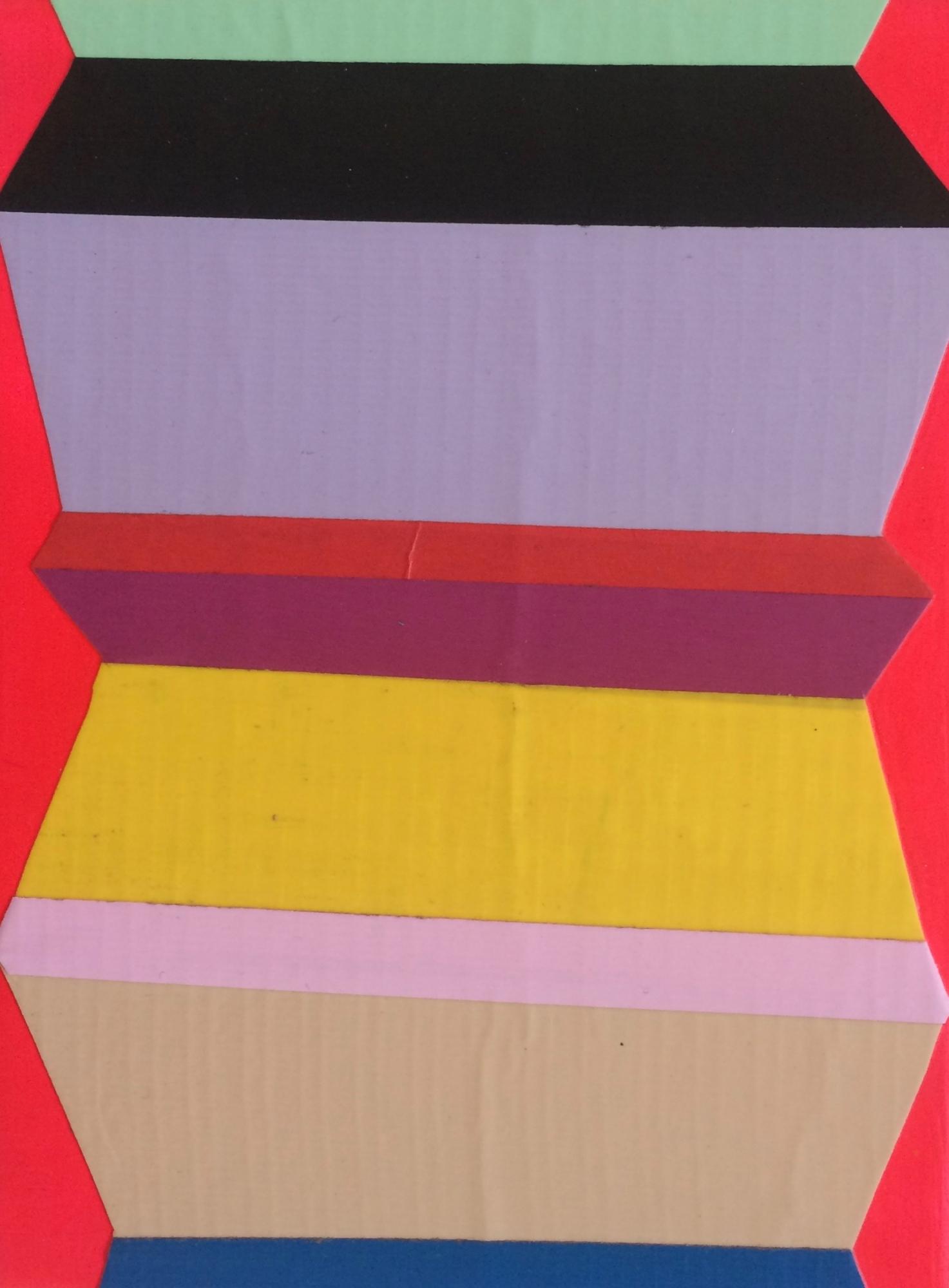 Zag Fluorescent Pink by Janine Miedzik