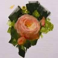 Caroline Ji - Pink Rose En Plein Air