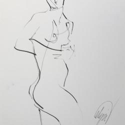 Mel Delija - standing nude 1