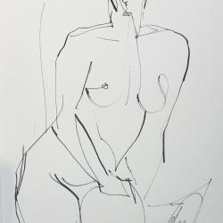 Mel Delija - Seated Nude X