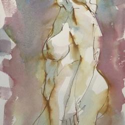 Mel Delija - Standing Nude