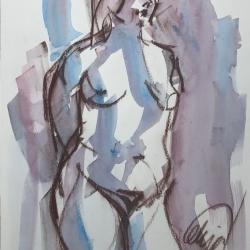 Mel Delija - Nude standing
