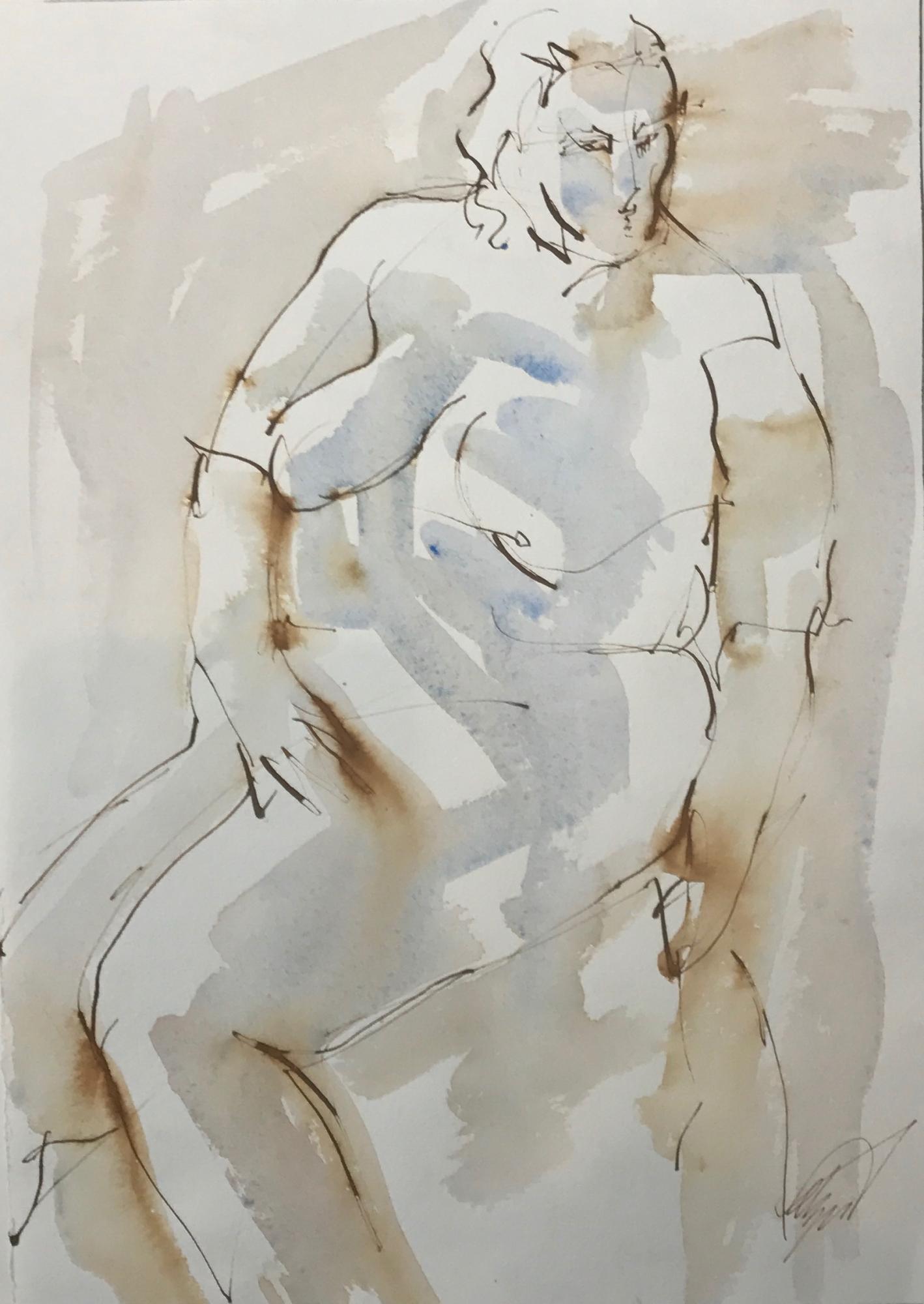 Large Nude by Mel Delija