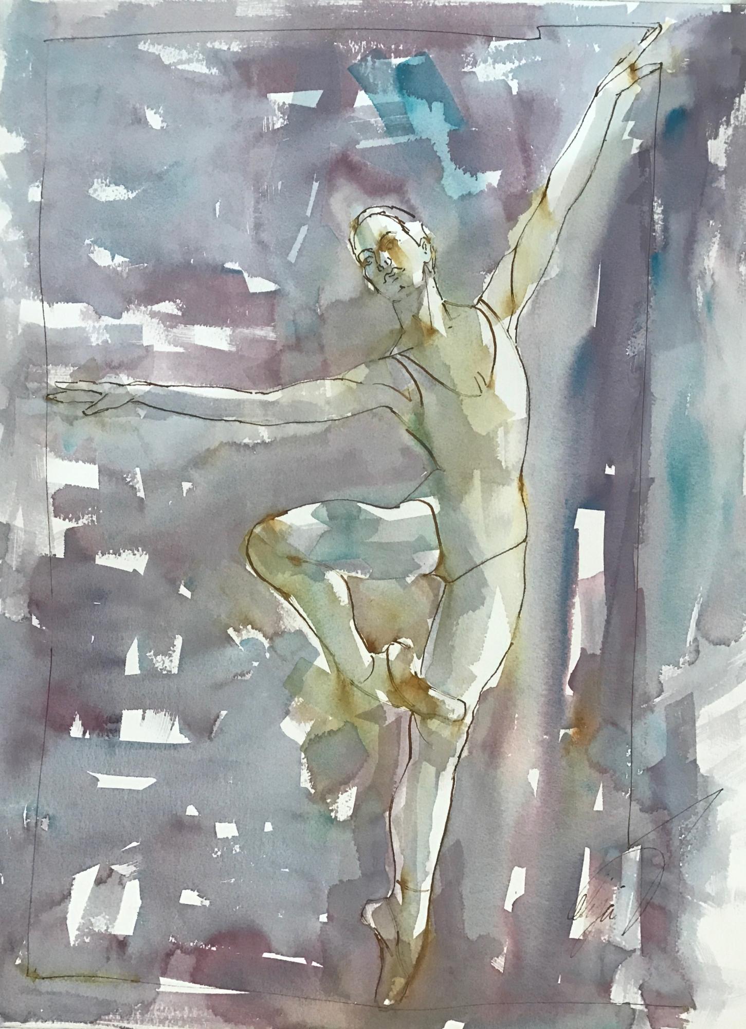 Dancer on Point VI by Mel Delija