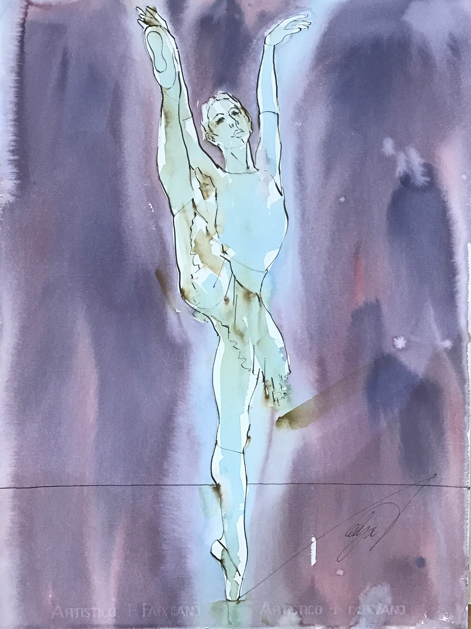 Dancer Variation II by Mel Delija