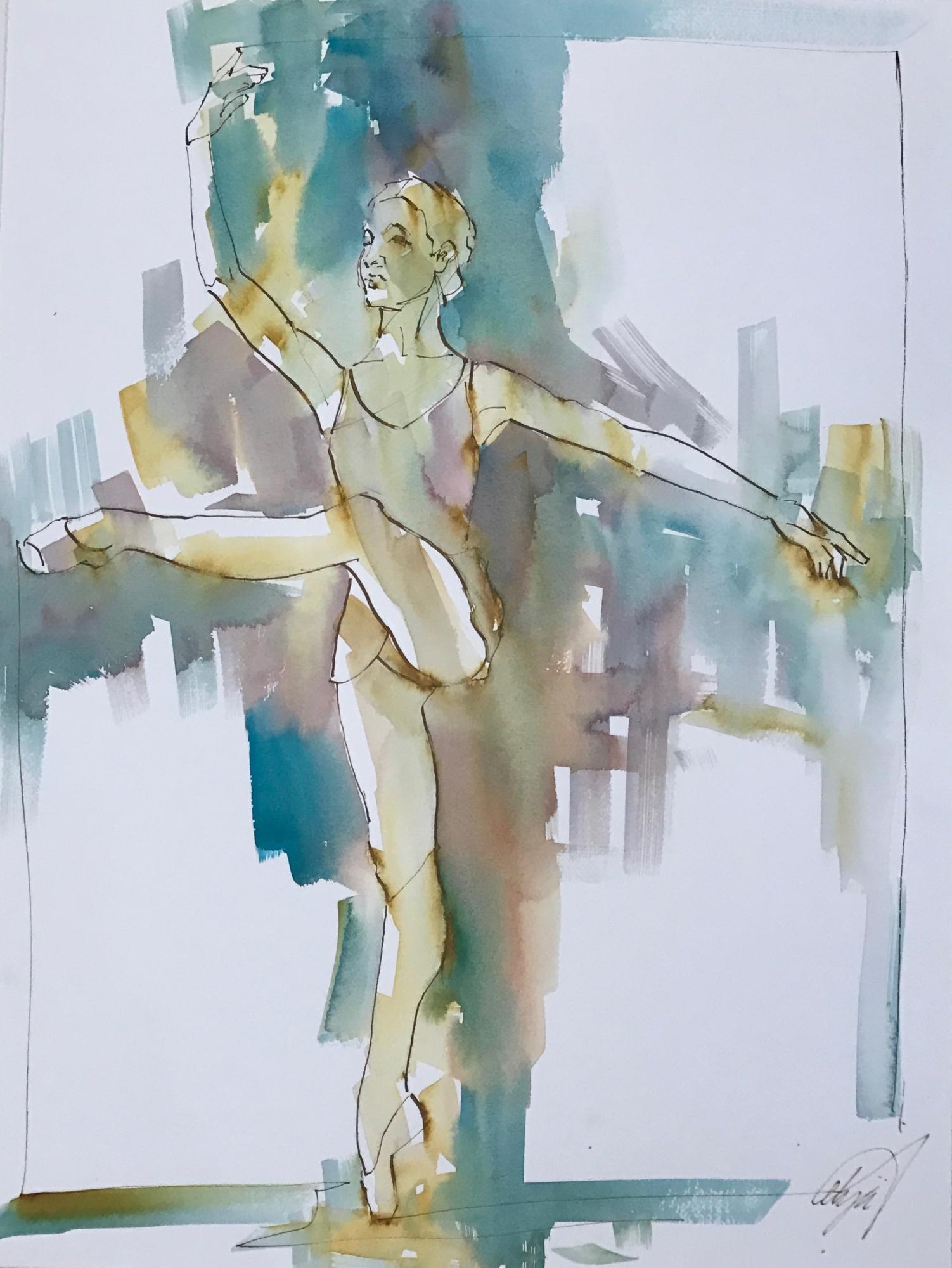 Dancer on Point III by Mel Delija