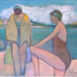 Susan McLean Woodburn - Two Bathers - Unloading the Boat Georgian Bay