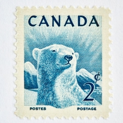 Peter Andrew - Wildlife Week Stamp- Polar Bear