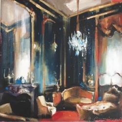 Hanna Ruminski - Parisian Apartment in Prussian Blue