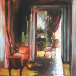 Hanna Ruminski - Interior with Upholstered Bench