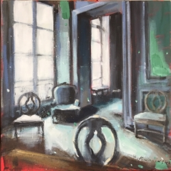 Hanna Ruminski - Parisian Apartment with Four Chairs