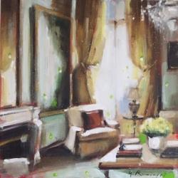 Hanna Ruminski - Parisian Apartment with Yellow Flowers
