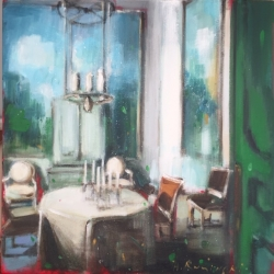 Hanna Ruminski - Parisian Apartment with Green Door