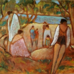 Susan McLean Woodburn - Bathers After a Swim