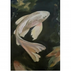 Emily Bickell - White Golden Koi