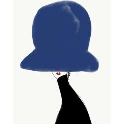 Annie  Naranian  - Chapeau Noir et Bleu