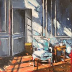 Hanna Ruminski - Bergere Chair in Blue