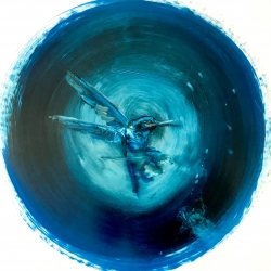 Madeleine Lamont - Humming Bird- Small Blue