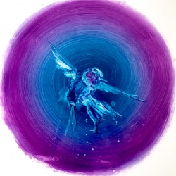 Madeleine Lamont - Humming Bird- Small Purple