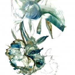 Madeleine Lamont - Teal Peony 2018- 5