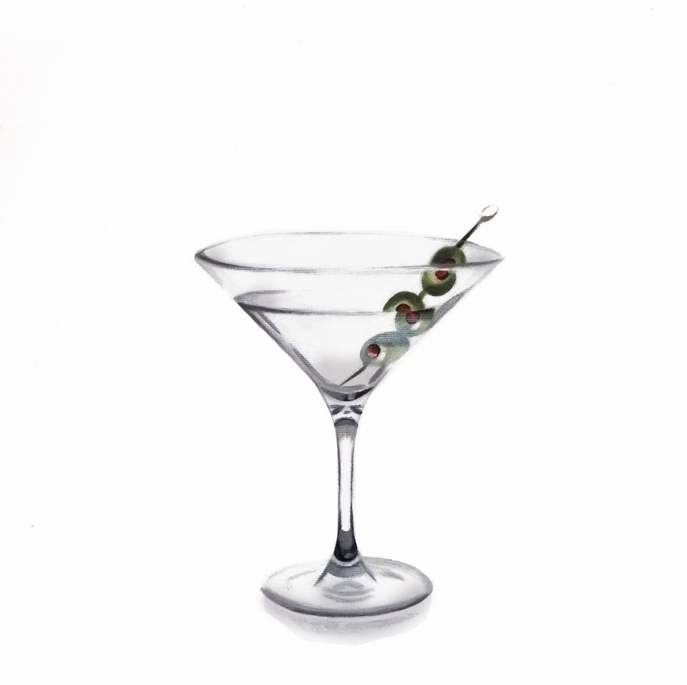 Tasting room: martini with olives by Erin Rothstein