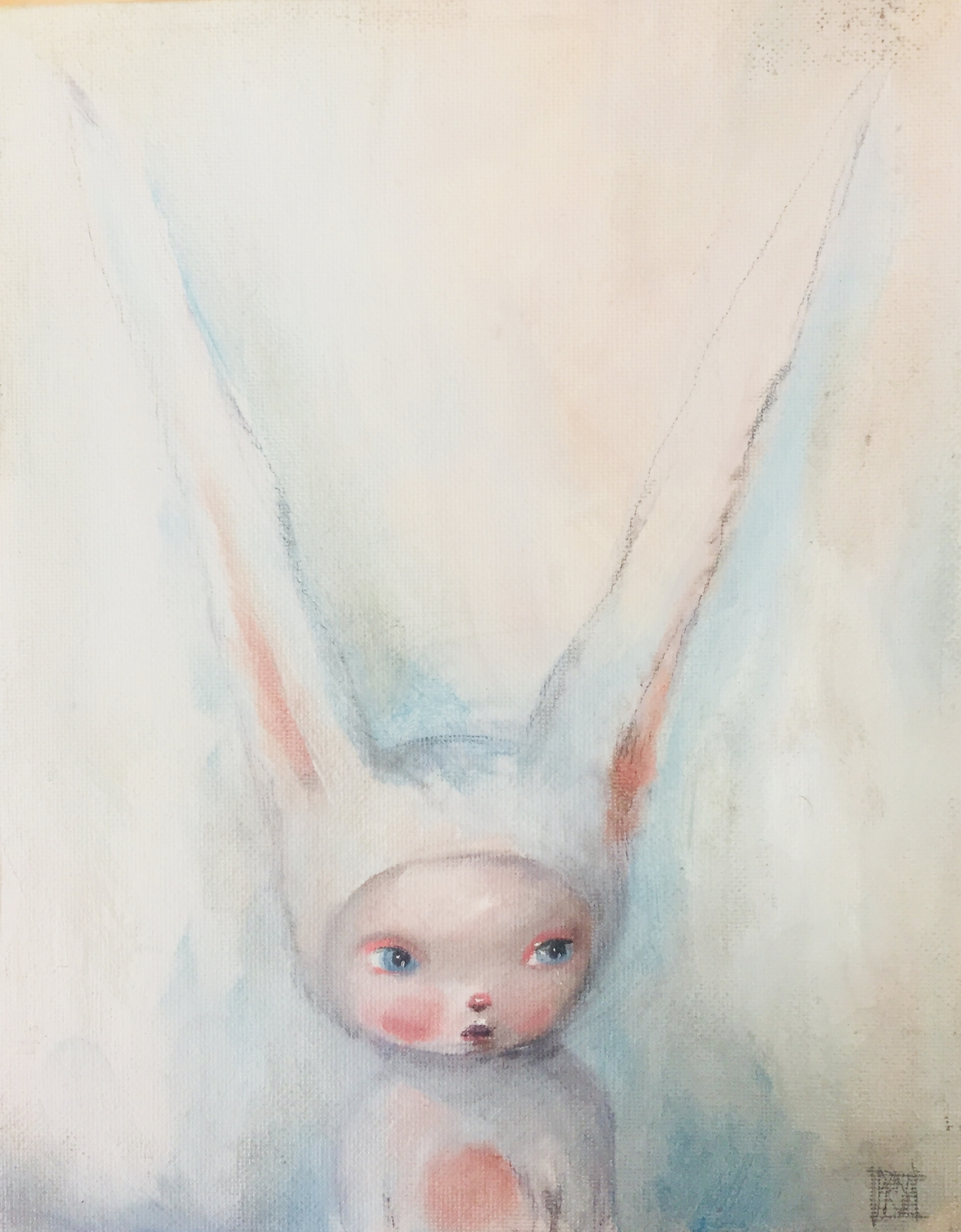 Bunny Pondering  by Kate Domina