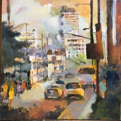 Masood Omer - Untitled Cityscape