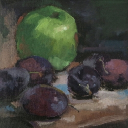 Maria  Josenhans - An Apple and Plums