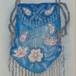 Susan Fothergill - Reticule with Flowers and Tassel